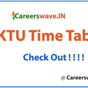 AKTU Time Table