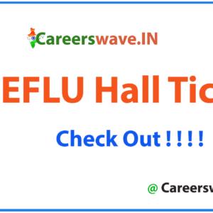 EFLU Hall Ticket