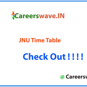 JNU Time Table