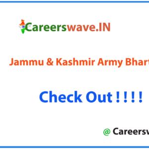 Jammu & Kashmir Army Bharti Rally Soldier Notification