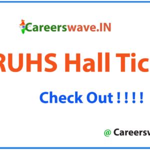 NTRUHS Hall Ticket