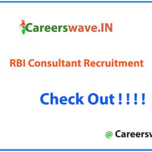 RBI Consultant Notification