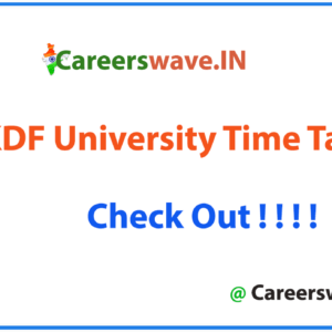 RKDF University Time Table