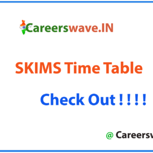 SKIMS Time Table