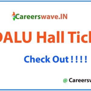 TNDALU Hall Ticket