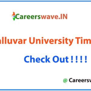 Thiruvalluvar University Time Table