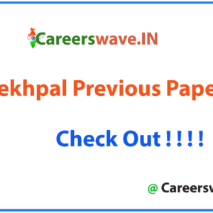 UP Lekhpal Previous Papers PDF