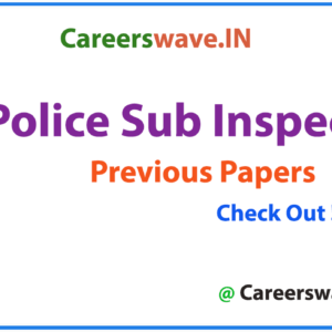 UP Police Sub Inspector Previous Papers PDF