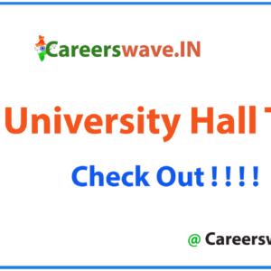 VELS University Hall Ticket