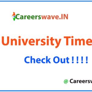 VELS University Time Table