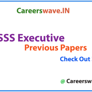 BSSS Executive Previous Papers PDF