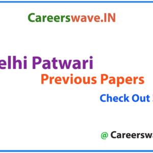 DDA Patwari Previous Papers PDF