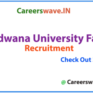 Gondwana University Faculty Notification 2020 | Apply Now for 36 Posts