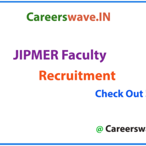 JIPMER Faculty Notification