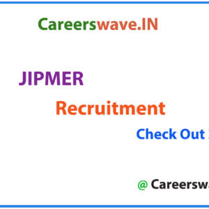 JIPMER Recruitment
